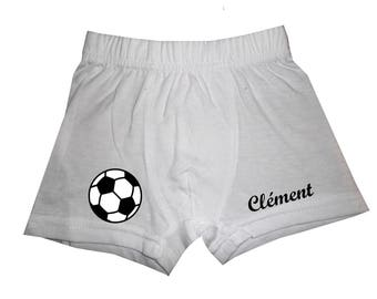 pants white boy football customized with name