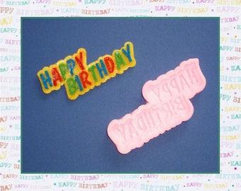 "Silicone mold: ""Happy Birthday"""