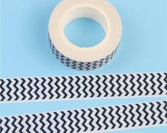 gorgeous 1 roll masking tape (washi) model zigzag black and white 15mm * 10metres!