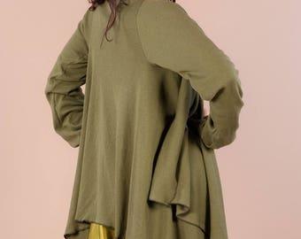 long vest knit asymmetrical cut