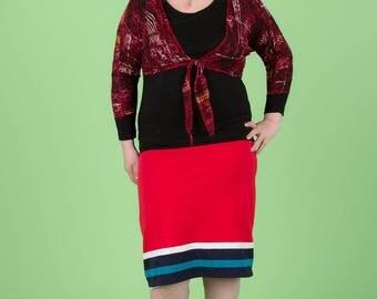 original skirt stretch cotton mesh