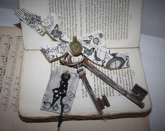 Old keys old weathered decorative element