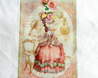 Beautiful lady theme transfer style Marie Antoinette