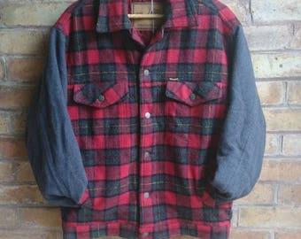 Vintage wrangler checked jacket