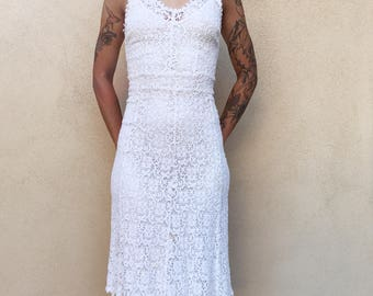 Lacey White Vintage Dress