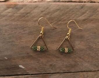 •NAZCA • golden earrings