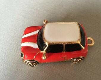 car: MINI red white