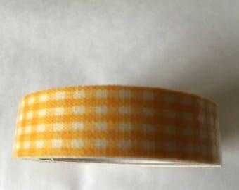 GINGHAM yellow masking tape
