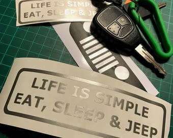 """Eat Sleep Jeep"" stickers"