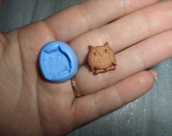 New OWL! mold for polymer clay 1.5 cm