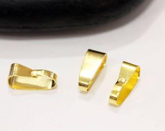 SET of 50 beautiful gilt gold BAILS
