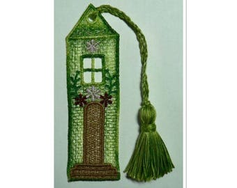 Bookmark House lace green gradient