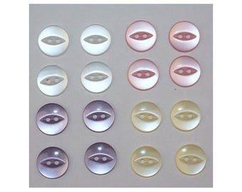 80 x basic buttons 11 mm 2 holes: 4 colors set G - 000808