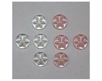 40 x buttons basic 14 mm Star 2 holes set B *-000833