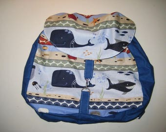 "Great nursery bag ""Marine background"""