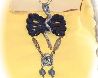 Designer necklace ethnic snake charmer vintage