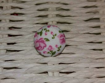 1 pretty flower fabric button × × ×.