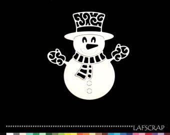 1 cut out scrap scrapbooking snowman snow Christmas deco die cut Scrapbook embellishment