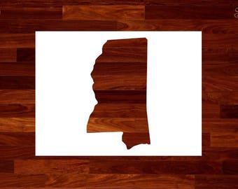 Mississippi Stencil Etsy