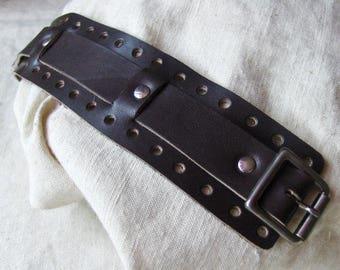 Handmade Brown Leather Bracelet