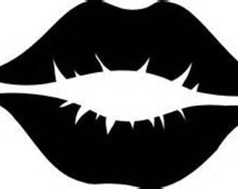 Lipstick lips decal