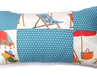 """Hold back """"vacation"""" themed pillow"""