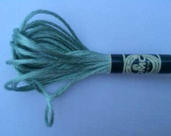 Embroidery FLOSS mouline satin-green color S504