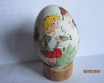 genuine two goose egg painting little girls