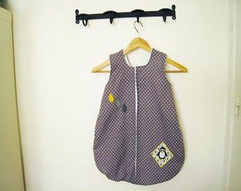 Sleeping bag 1 grey and yellow theme age Penguin