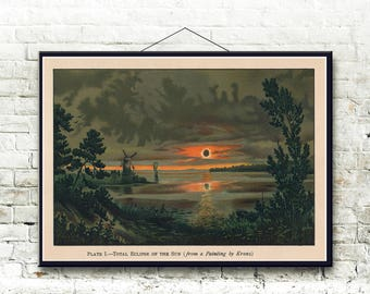 Solar Eclipse 1897 Fine Art Print