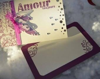 "10 iridescent ""Feathers"" ivory theme wedding invitation"