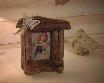 Wooden picture frame float to put n ° 2