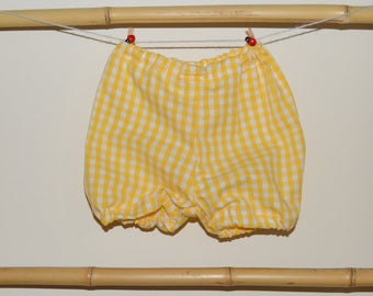 Bloomers baby 3 to the yellow gingham 24 months