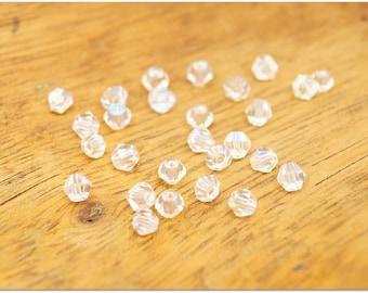 Set of 20 Bead Necklace / bracelet / 4mm / crystal