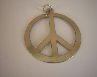 Pendant silver peace and love to climb or sew