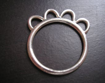 Rings silver metal 30 mm connector 4 rows