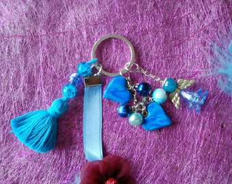 Keychain all in blue