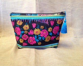 Large Bohemian colored and beaded pouch.