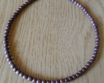 Guy, dark brown wooden necklace