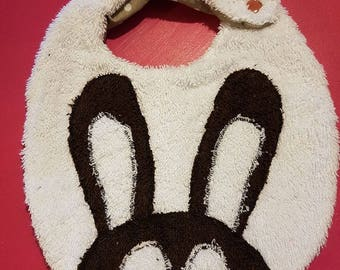 Bib original rabbit pattern