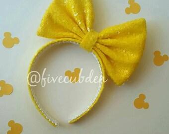 Yellow oversized bow