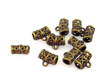 set of 12 mm bronze12 bails