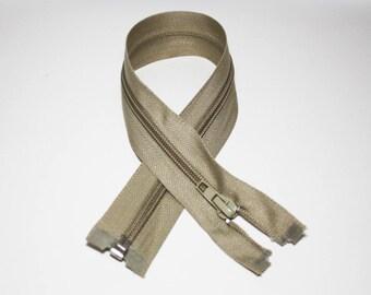 Zip closure, 35 cm, detachable, marl grey
