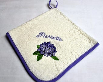 WIPE HANDS FLOWER PERSONALIZED NAME