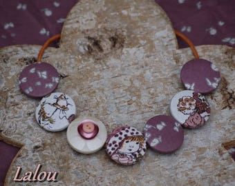 "All button necklace ""childhood memory"""
