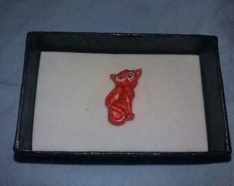 Red cat magnet