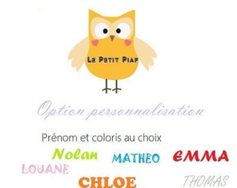 Optional personalization of your item ❀ name choice ❀