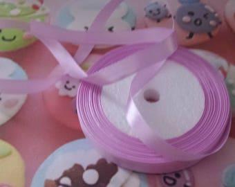1 meter of satin ribbon Purple 12mm wide n4