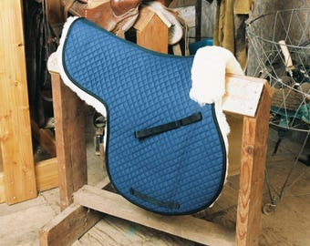 All Purpose Numnah Saddle Pads Completely Lined W/Pommel Roll 3 Colors