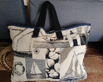 REGATTA IN UPHOLSTERY FABRIC TOTE BAG